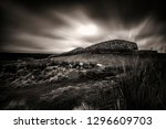grey cairns of camster | Shutterstock . vector #1296609703