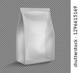 transparent pillow bag mockup....   Shutterstock .eps vector #1296615169