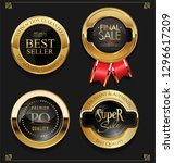 golden sale labels retro... | Shutterstock .eps vector #1296617209