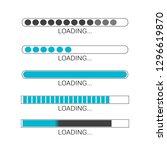loading bar progress icons ...   Shutterstock .eps vector #1296619870