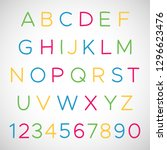 set of latin alphabet letters... | Shutterstock .eps vector #1296623476