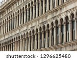 facade of an old palazzo ...   Shutterstock . vector #1296625480