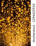 sparkling golden dust   bokeh...   Shutterstock . vector #1296625510