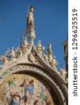 beautiful figurines and mosaics ...   Shutterstock . vector #1296625519