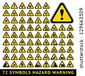 72 symbols triangular warning... | Shutterstock .eps vector #129663509