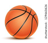 vector basketball isolated on a ... | Shutterstock .eps vector #129663626