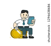 vector cartoon business concept ... | Shutterstock .eps vector #1296638686