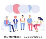 group psychotherapy counseling... | Shutterstock .eps vector #1296640936