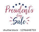 presidents day sale. vector... | Shutterstock .eps vector #1296648703