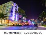 usa. florida. miami beach 2019  ... | Shutterstock . vector #1296648790