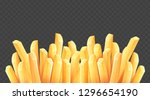 french fries. roasted potato... | Shutterstock .eps vector #1296654190