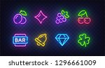 isolated game icons for casino. ... | Shutterstock .eps vector #1296661009