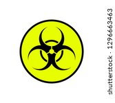 biohazard  sign of toxic and... | Shutterstock .eps vector #1296663463