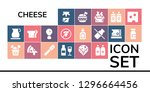 cheese icon set. 19 filled... | Shutterstock .eps vector #1296664456