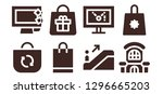mall icon set. 8 filled mall... | Shutterstock .eps vector #1296665203