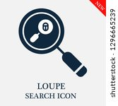 loupe search icon. editable... | Shutterstock .eps vector #1296665239