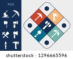pick icon set. 13 filled pick... | Shutterstock .eps vector #1296665596