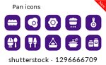 pan icon set. 10 filled pan... | Shutterstock .eps vector #1296666709