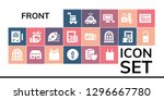 front icon set. 19 filled... | Shutterstock .eps vector #1296667780