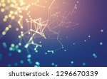 abstract polygonal space low... | Shutterstock . vector #1296670339