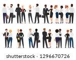business people conversation.... | Shutterstock .eps vector #1296670726