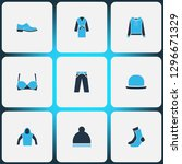 garment icons colored set with... | Shutterstock . vector #1296671329
