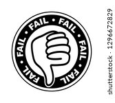 fail thumbs down icon | Shutterstock .eps vector #1296672829