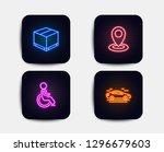 neon glow lights. set of... | Shutterstock .eps vector #1296679603