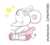 hand drawn vector illustration... | Shutterstock .eps vector #1296695383