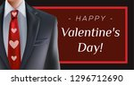 happy valentine's day greeting... | Shutterstock .eps vector #1296712690