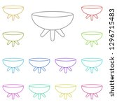 brazier icon in multi color.... | Shutterstock . vector #1296715483