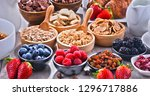 composition with different... | Shutterstock . vector #1296717886