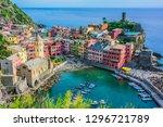 picturesque town of vernazza ... | Shutterstock . vector #1296721789