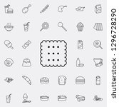 biscuit icon. fast food icons... | Shutterstock .eps vector #1296728290