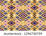 ikat geometric folklore... | Shutterstock .eps vector #1296730759