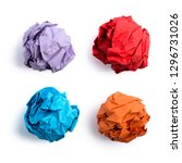 Collection Of Colorful Crumpled ...