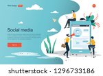 business concept. people are... | Shutterstock .eps vector #1296733186