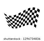 flag race vector icon | Shutterstock .eps vector #1296734836