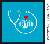 world health day vector design | Shutterstock .eps vector #1296735736