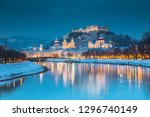 classic view of the historic... | Shutterstock . vector #1296740149