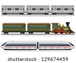 railway transport collection | Shutterstock .eps vector #129674459