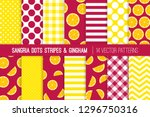 sangria party vector patterns... | Shutterstock .eps vector #1296750316
