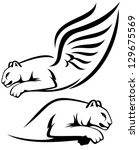 Raster   Winged Lion And Couga...