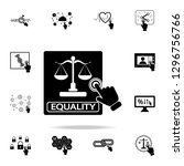 equality concept on touch... | Shutterstock . vector #1296756766