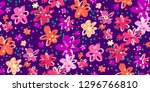 colourful flowers seamless... | Shutterstock .eps vector #1296766810