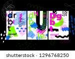 unique trendy artistic... | Shutterstock .eps vector #1296768250