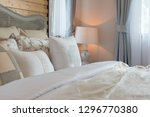 classic bedroom style with set... | Shutterstock . vector #1296770380