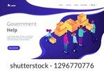volunteers giving humanitarian... | Shutterstock .eps vector #1296770776