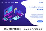 students e learning at huge... | Shutterstock .eps vector #1296770893