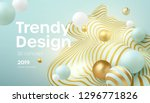 flowing soft spheres. abstract... | Shutterstock .eps vector #1296771826